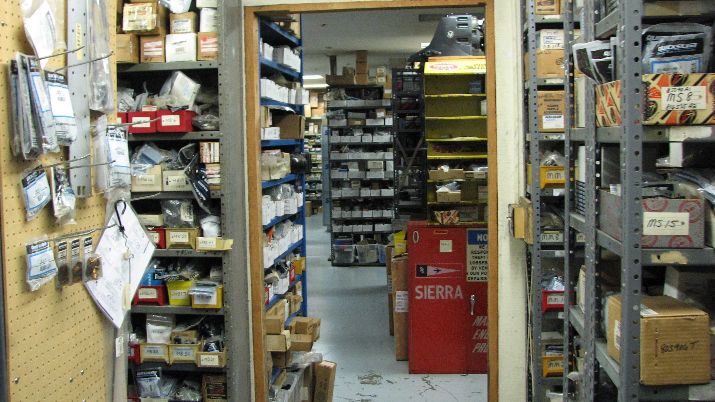 Partial View of our Parts Room