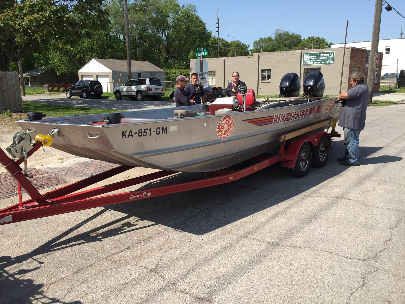 Kansas City Fire Department Rescue Boat serviced at US Boatworks