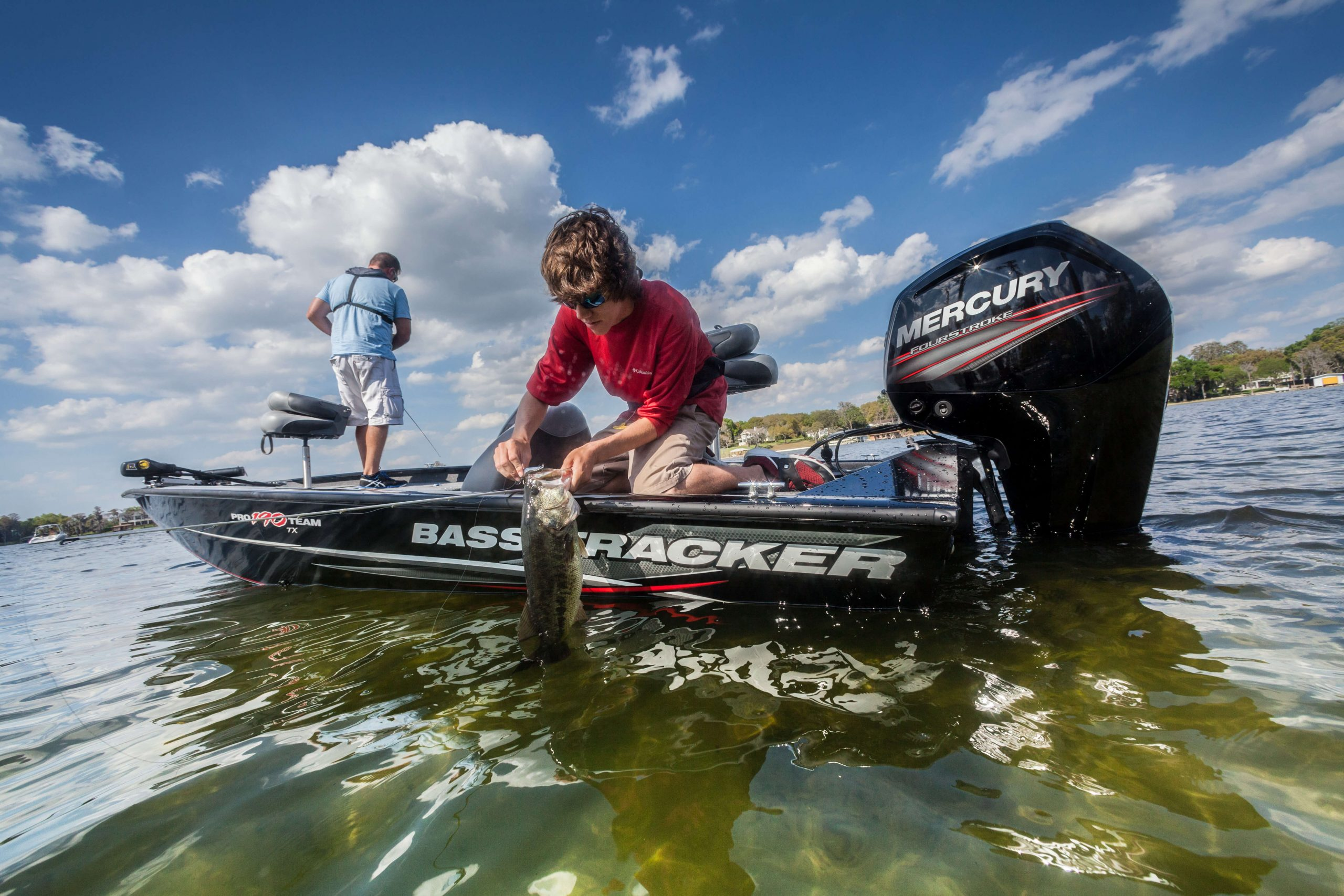 Mercury Outboard 115 bass fishing