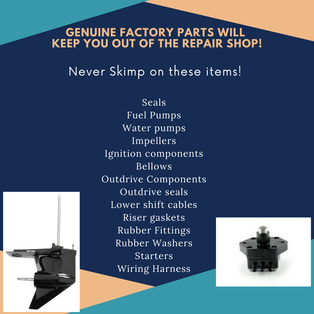 list of OEM boat parts