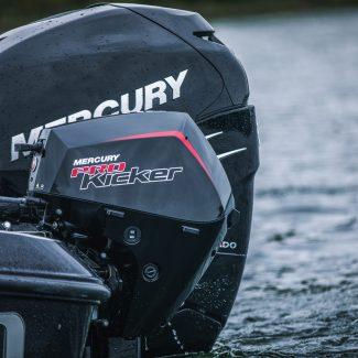 Mercury 350 and 15 hp pro kicker